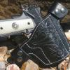Carved and lined holster for Rick. His gun, a 4 inch Kimber.